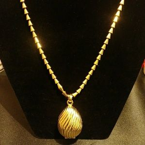 Jewelry - Unique Gold Cone Necklace with Locket
